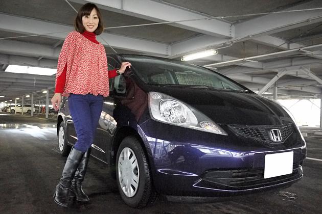 西川綾子さんと愛車のホンダ フィット