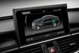 Audi A6 L e-tron concept[電気自動車コンセプトカー]モニター部