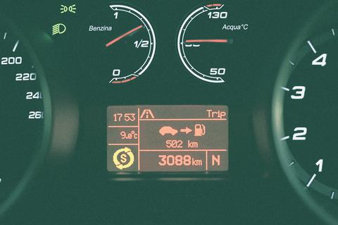 ガソリンメーターと水温計はイタリア語表記 こういう所が洒落てます