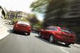 (左)新型「マツダ アテンザ(Mazda6)ワゴン」【欧州仕様車】/(右)新型「マツダ アテンザ(Mazda6)」【欧州仕様車】