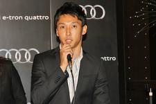 アウディ ジャパン「ルマン24時間レース2012 優勝報告レセプション」トヨタ レーシング 中嶋 一貴選手