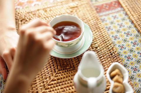 ゆっくりお茶をいただいて。