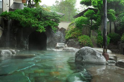 庭園風になった、嵯峨沢の湯