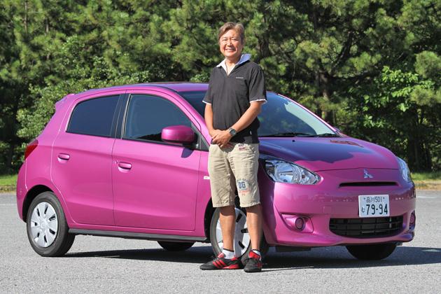 実はオートックワン初登場! 三菱 新型 ミラージュの試乗レポートを担当して頂いた自動車評論家 国沢 光宏さん