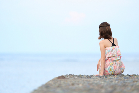 海を見ながら・・・