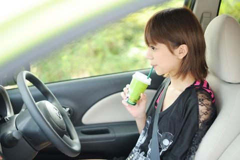 鎌田紘子さん。抹茶ラテなう。