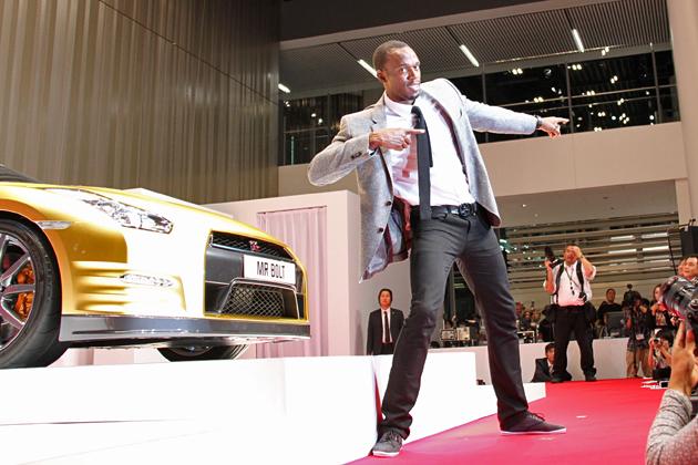 日産グローバル本社ギャラリーに、世界最速の男 ウサイン・ボルト選手襲来!!