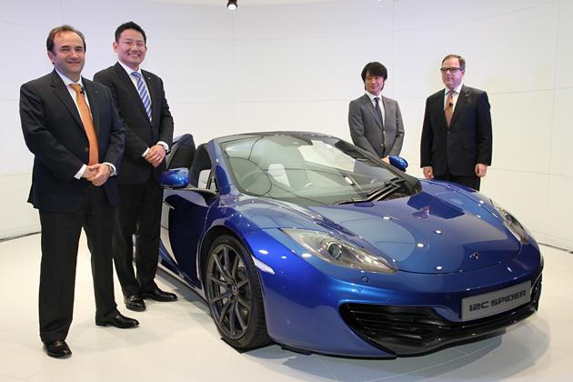 マクラーレン MP4-12Cスパイダー 新型車速報 ~最高出力625ps、価格3000万円という究極のオープンスポーツカー!~