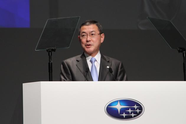 富士重工業(株)代表取締役社長 吉永泰之氏