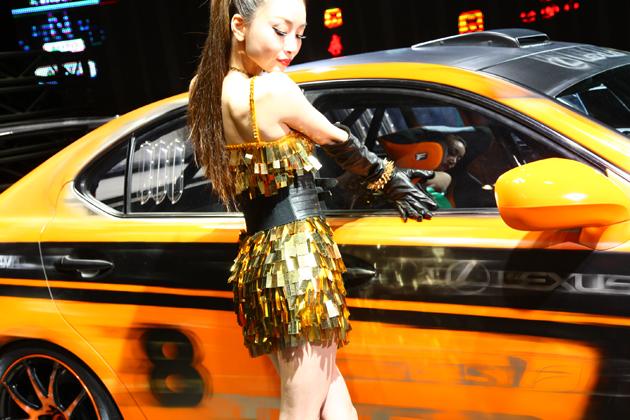 [東京オートサロン2013]レクサスブース「2UX3J」レクサスISF CCS-R コンパニオン画像