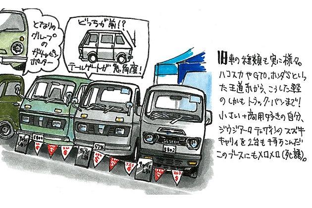 「イラストレータ遠藤イヅルの2013ニューイヤーミーティング初訪問記」2013年1月27日のできごと2「スズキキャリィL40V」「L40」「L50(力のキャリィ)」