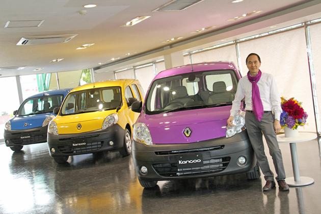 2013年版限定車「ルノー カングー クルール」とルノー・ジャポン 大極 司 代表取締役社長