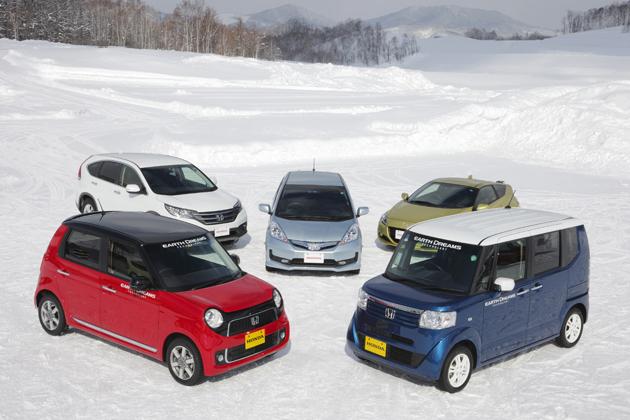 「2013 Honda 雪上試乗会」試乗車ラインナップの一例[市販モデル]