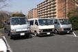 「トヨタ ハイエース」[H50系]の3台並び