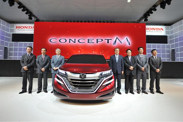 【上海ショー2013】次期エリシオン・オデッセイ!? ホンダ、市販を前提としたミニバンコンセプトモデルなどを出展