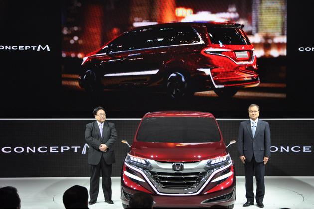 ホンダ 中国向けミニバンコンセプト「Concept M」[2013上海モーターショー出展車][2013上海ショー会場の模様]