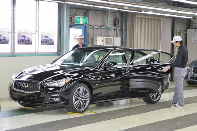 日産 栃木工場 新型「Infiniti Q50」オフライン式 栃木工場 INFINITI生産ラインの模様[2013/05/14]