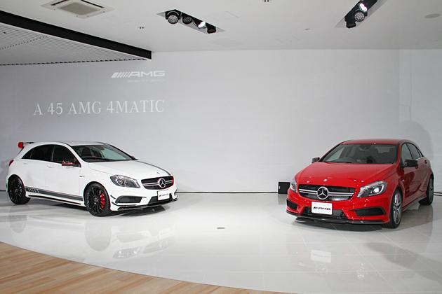 (左から)「A45 AMG 4MATIC Edition1」、「A45 AMG 4MATIC」