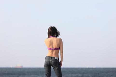 「海だーっ!」