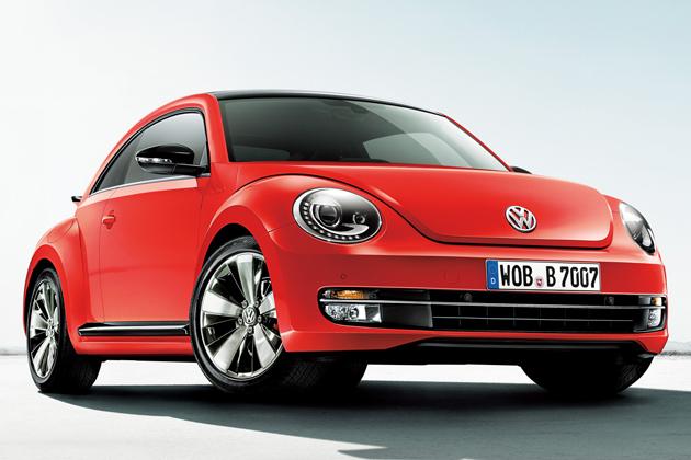フォルクスワーゲン「The Beetle Turbo」フロントエクステリア※写真は欧州仕様車(電動パノラマスライディングルーフ装着車)