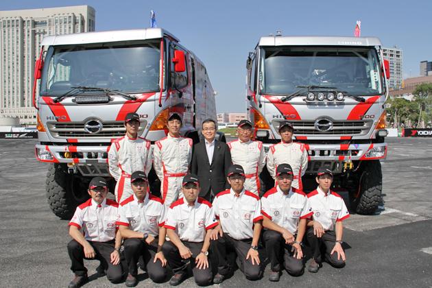 チームスガワラ「日野レンジャー」がダカールラリー2014で5連覇を目指す!