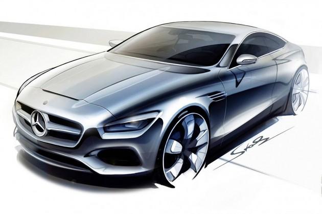 メルセデス・ベンツ Concept S-Class Coupé デザインスケッチ