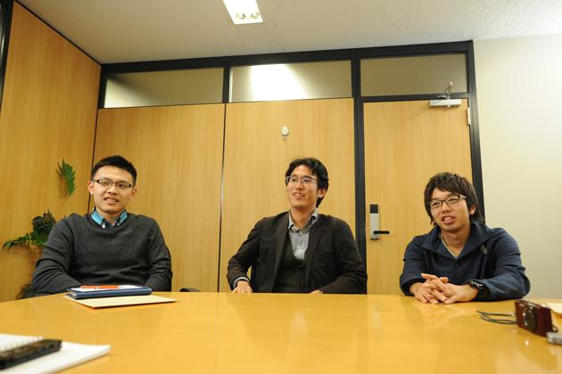 (左から)石河 雄太さん/大塩 純平さん/竹内 靖貴さん