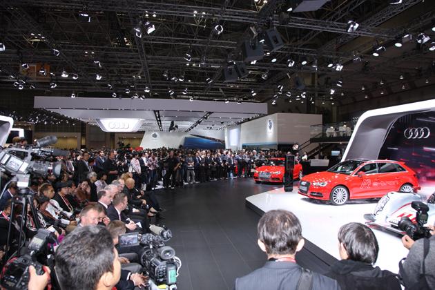 【東京モーターショー2013 現場速報】セダン好きなら今回のアウディブースは必見!ついに登場したA3・S3セダン!