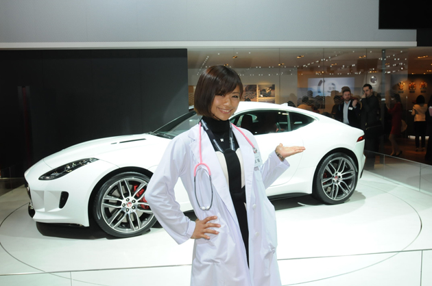 【綺麗な女医さんは好きですか?】安枝瞳の東京モーターショー診察中!【ジャガー編】