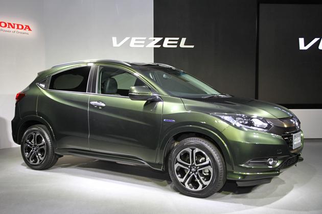 【ホンダ「VEZEL(ヴェゼル)」発表会[2013/12/19]】ホンダ 新型SUV「VEZEL(ヴェゼル)」VEZEL HYBRID Z[FF/ボディカラー:ミスティグリーン・パール]