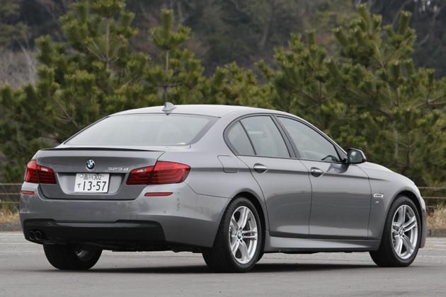ニュー BMW 5シリーズ「523d M Sport」(クリーンディーゼル)[2014年マイナーチェンジモデル/ボディカラー:グレーシャー・シルバー]