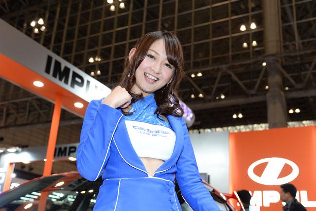 東京オートサロン2014 インパルブースにみさとんが潜入 カルソニックレディ 山吹香織さん
