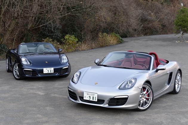 (左)ポルシェ 新型ボクスター/(右)ポルシェ 新型ボクスターS