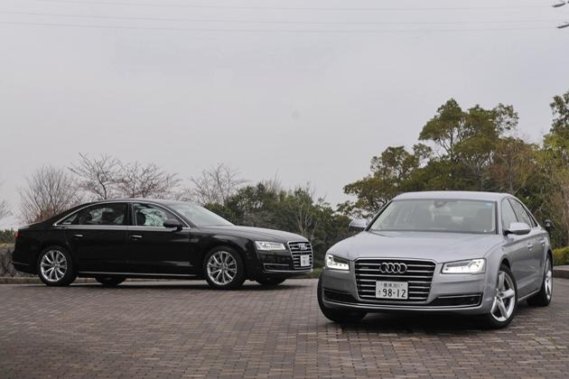 新型 Audi A8 L 4.0 TFSI quattro(左)/新型 Audi A8 3.0 TFSI quattro(右)