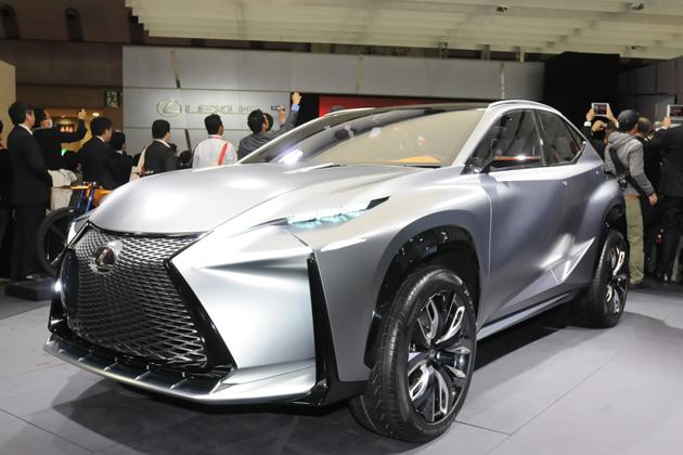 LEXUS(レクサス)「NX」のベース車である「LF-NX」 ※画像は東京モーターショー2013のもの フロントエクステリア