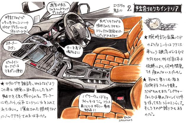 シトロエン DS5 イラスト試乗レポート/遠藤イヅル