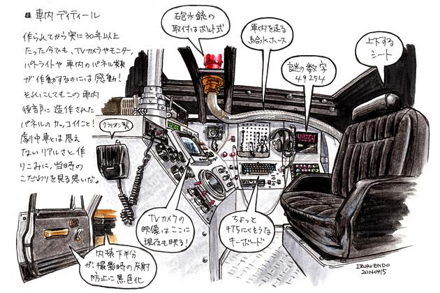 【[西部警察 特別機動車両 徹底解析 Vol.1]特車サファリ、横浜に現る!】[イラスト:遠藤イヅル]