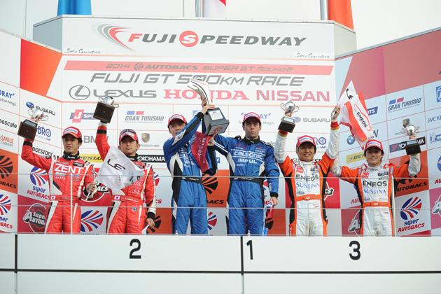 500クラス表彰台/2014 スーパーGT 第2戦 富士500kmレース
