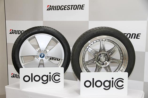 (右)「ECOPIA EP500 ologic」、(左)スタッドレスタイヤ「BLIZZAK NV ologic」