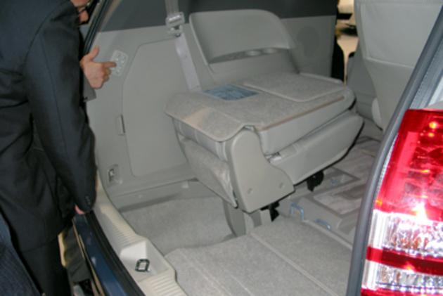 床下格納機能付シート