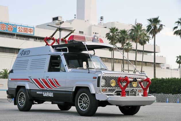 西部警察「日産 サファリ 4WD」、 ゲン(苅谷俊介)の運転で30年ぶりの緊急出動!(画像No.             23             )