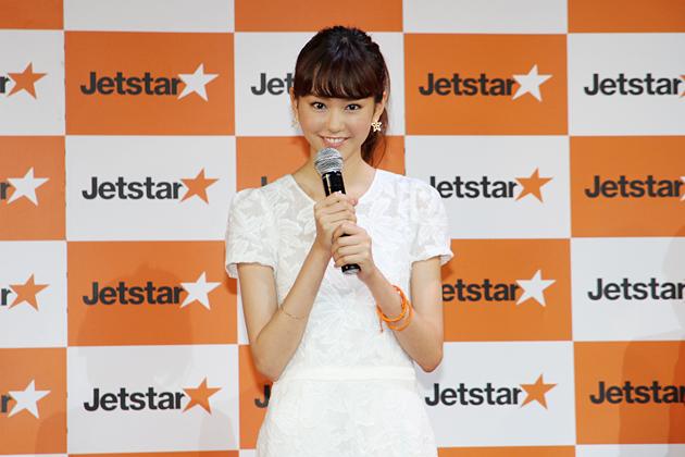ジェットスターブランドアンバサダーの桐谷美玲さん