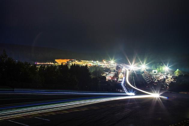 夜景 <ブランパン耐久シリーズ スパ24時間レース>