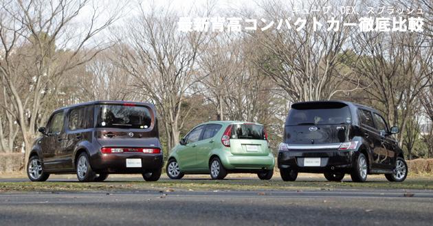 最新背高コンパクトカー 徹底比較