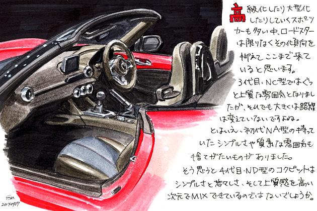 マツダ 4代目 ロードスター(ND型) イラストインプレッション/遠藤イヅル
