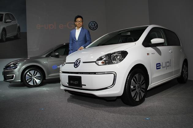 フォルクスワーゲン初の量産EV「e-up!」、来年2月から日本で販売を開始 ~ゴルフのEV「e-Golf」も来年半ばに発売~