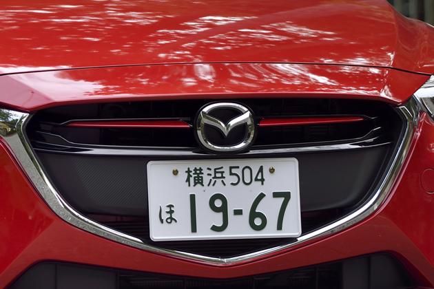 マツダ 新型デミオ [ガソリン車・4代目]/赤のガーニッシュはディーゼルのみならず「13S Lパッケージ」にも装着される