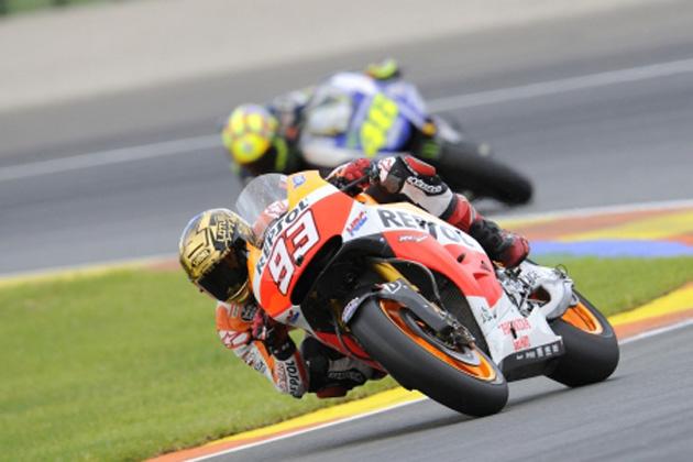 マルク・マルケスとバレンティーノ・ロッシ/2014年 MotoGP 第18戦 バレンシアGP(スペイン)