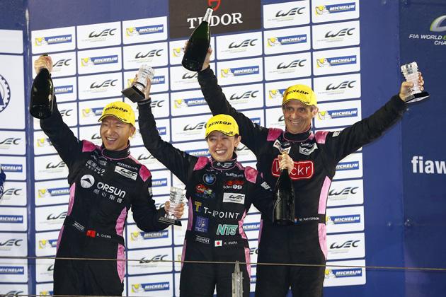 井原慶子 LMP2クラス 3位表彰台/FIA世界耐久選手権(WEC)バーレーン