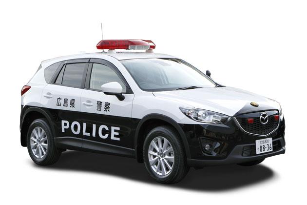 警察用パトロールカーとして架装した「マツダCX-5」